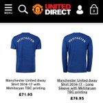 Official Manchester United online store sudah menjual Jersey Mkhitaryan. To be confirmed? Eh https://t.co/oQcD6bygpi