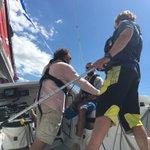 Ptite sortie sur le fleuve à bord du bateau français lEsprit Scout qui prendra part à la @TransatQSM @tvanouvelles https://t.co/BFacYmMjeb
