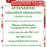 #ANPI #Brescia - Festa della #Resistenza, sabato 2 luglio: ATTENZIONE! Variazione programma: https://t.co/1QNkLatmwv https://t.co/B8n5H6nP5Z