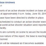 Update:#JointBaseAndrews was scheduled to conduct active shooter exercise, per their FB page https://t.co/YyjZMRLmp1 https://t.co/aVousDl8bz