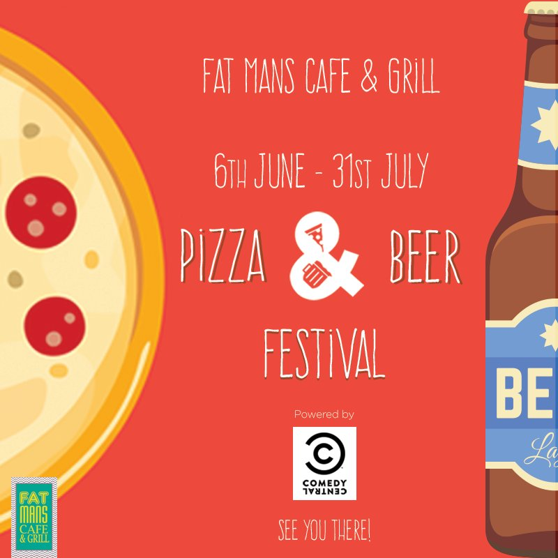 Head on over to Fat Mans Cafe and be a part of the Beer and #PizzaFestival #Mumbai #Fa ...