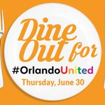 TONIGHT! Well donate $1 to #OneOrlando Fund for EVERY guest served! #OrlandoStrong #Orlando https://t.co/jZjVVufBkw https://t.co/6L7oB4i6B3