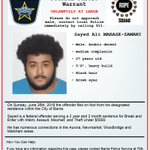 Wanted in a Canada Wide Parole Warrant- Sayed MABASE-ZAMANI, contact 911 or ROPE squad https://t.co/QWsGQVrjj8 https://t.co/JDrlzFubbD