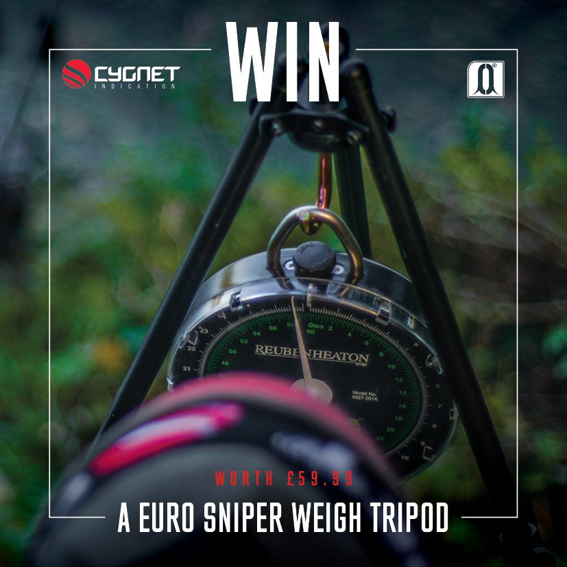 Win a Cygnet Euro Sniper Weighing Tripod RRP £59.99! Just follow @CygnetTackle & @carpology then RT this post! #Win https://t.co/QExO4eP3CM