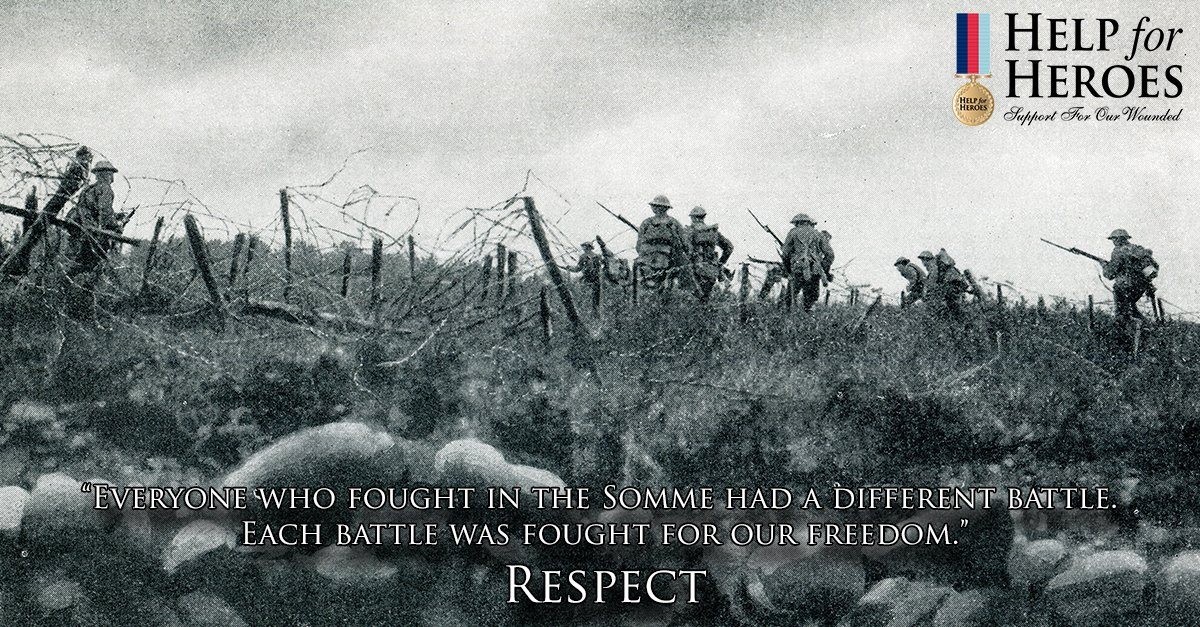 Today we #respect the tens of thousands killed and wounded in the battle of the Somme. https://t.co/FlWCBpdTDd