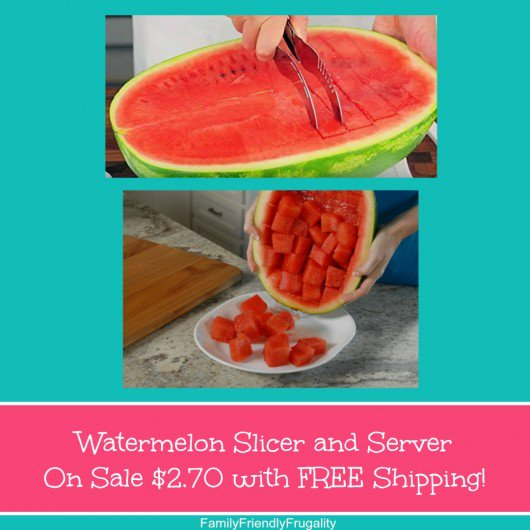 Watermelon Slicer and Server On Sale $2.70 with FREE Shipping! https://t.co/nnbo1V2WJx #discount https://t.co/7r9YlTlV4C