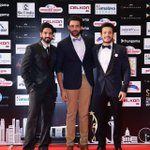 The Studs of the Telugu Industry @AkhilAkkineni8 @iamSushanthA @IAmVarunTej on the red carpet #SIIMA2016 #Singapore https://t.co/OJiF28PCgp