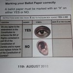 Honestly though this eye looks creepy lol. Anyway here is how your #Referendum ballot will look like #PMRCLecture https://t.co/x4xpQWHIMP