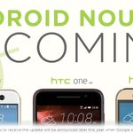 So sweet. Android Nougat—the next version of Google's Android—will be coming to the HTC 10, HTC One A9 & HTC One M9. https://t.co/cB5S2zv0PW