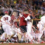 #TBT to South Carolinas walk-off 2010 #CWS title!  Arizona and Coastal Carolina play for this years crown at 1 ET. https://t.co/PXm7w7nSyo