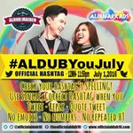 OHT Indeed July is the special month for ALDUB & AldubNation as well. -E @officialaldub16 @EatBulaga #ALDUBYouJULY https://t.co/eBhQjHrGdB
