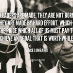 Leaders are made they arent born...... https://t.co/kEHHxHgPN5