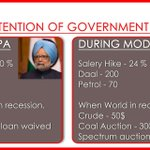 Despite high crude prices, UPA raised 40% salaries and managed to control inflation n waive farm loans unlike Modi https://t.co/teTsjlz44v