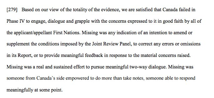 If you want to read one paragraph of the decision on Northern Gateway, read this one #cdnpoli https://t.co/FcXP4joBIL