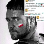 Thanks @russellcrowe for Your braveheart <3 :) for #Poland https://t.co/1InrEN5g7x