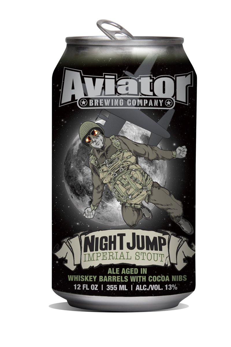 We just finished putting NightJump in the Bourbon Barrels! It's already good!! Release date 11/19 @ the Brewery! https://t.co/gG6x2yQxfO