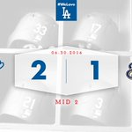 Mid 2: #Dodgers 2, Brewers 1 ???? #DodgersSocial https://t.co/upQdCLzlyi