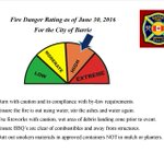 .@Barrie_Fire reports the fire danger rating for the city remains at HIGH. Tips for fire safety this #CanadaDay wknd https://t.co/v6pTtsL5hN