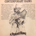 A newspaper ad from 1980 promoting A Prairie Home Companion. Garrison Keillor takes his final bow Sat at 5c/6e. #TBT https://t.co/k4hnOzYAHS