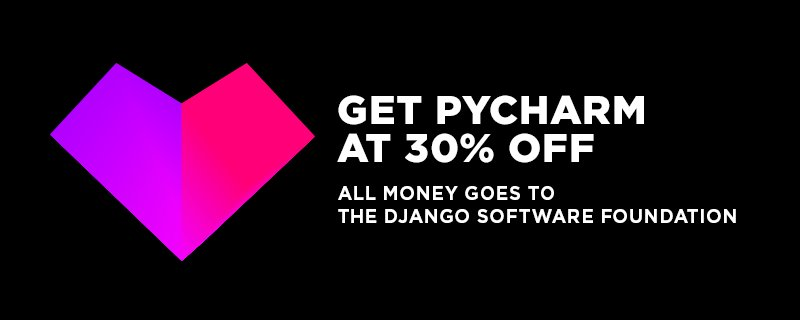 Get PyCharm at 30% OFF and support Django! ALL money goes to the Django Software Foundation. https://t.co/GNRDECt3Ap https://t.co/oaOfgkxy3p