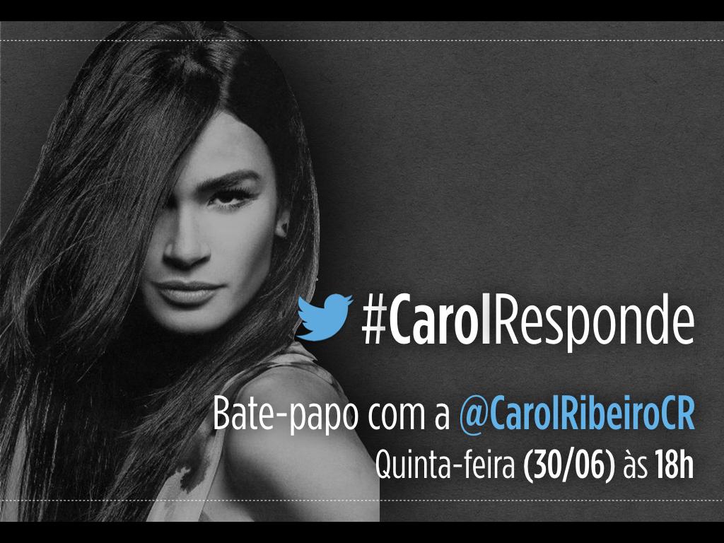 Vem bater um papo comigo daqui a pouco aqui no @TwitterBrasil. A partir das 18h. #CarolResponde https://t.co/KLualN68Jj