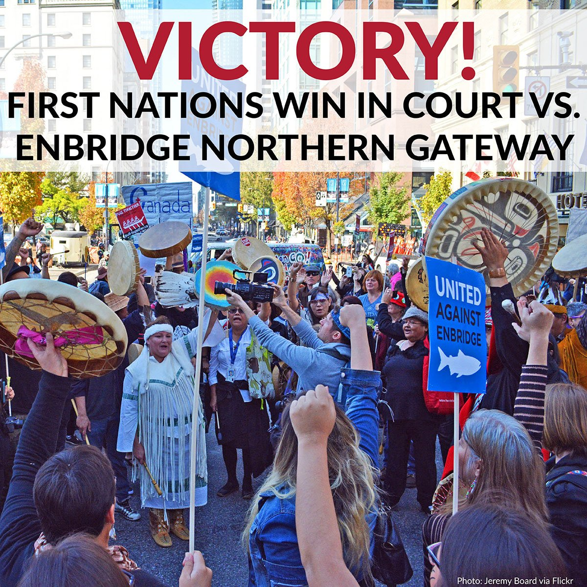 Our hearts are full; #NorthernGateway approval overturned by Federal Court of Appeal! #NoEnbridge #cdnpoli #bcpoli https://t.co/l6T6XHRT0l
