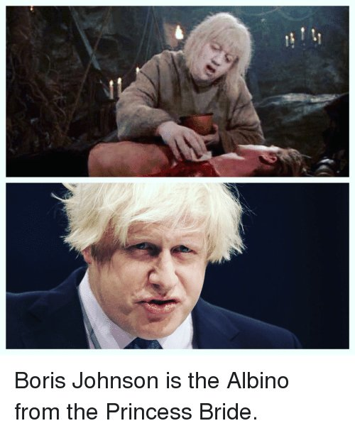 Boris Johnson Is Definitely Related To The Albino From The Princess