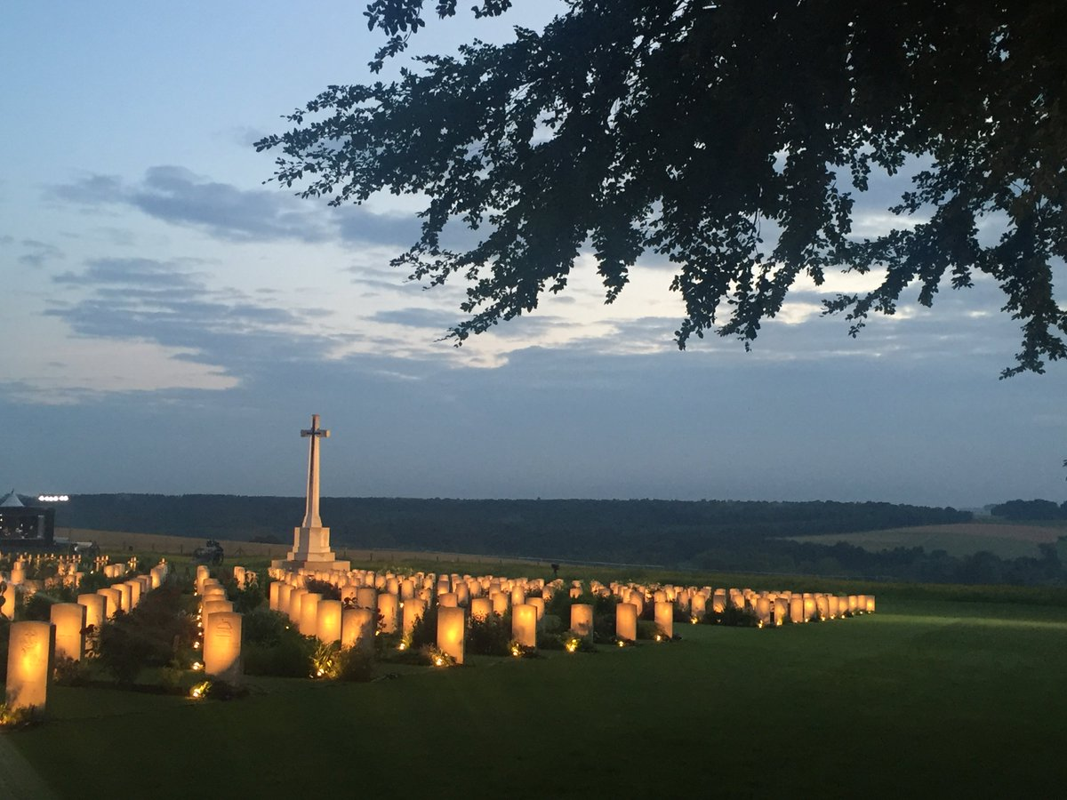 Vigil at the Thiepval Memorial. We Will Remember Them #Somme100 https://t.co/EgjPKnfUIm