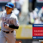 FINAL: Yankees 2, Rangers 1. https://t.co/Xb3iKgRWvy