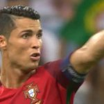 """Cristiano dives and Poland fans start chanting """"Messi Messi Messi"""" at him. https://t.co/aLEGEUkPl8"""