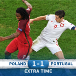 Nothing to separate the teams after 90 minutes. Extra time to follow! #EURO2016 #POLPOR https://t.co/WP0nJQ0uNk