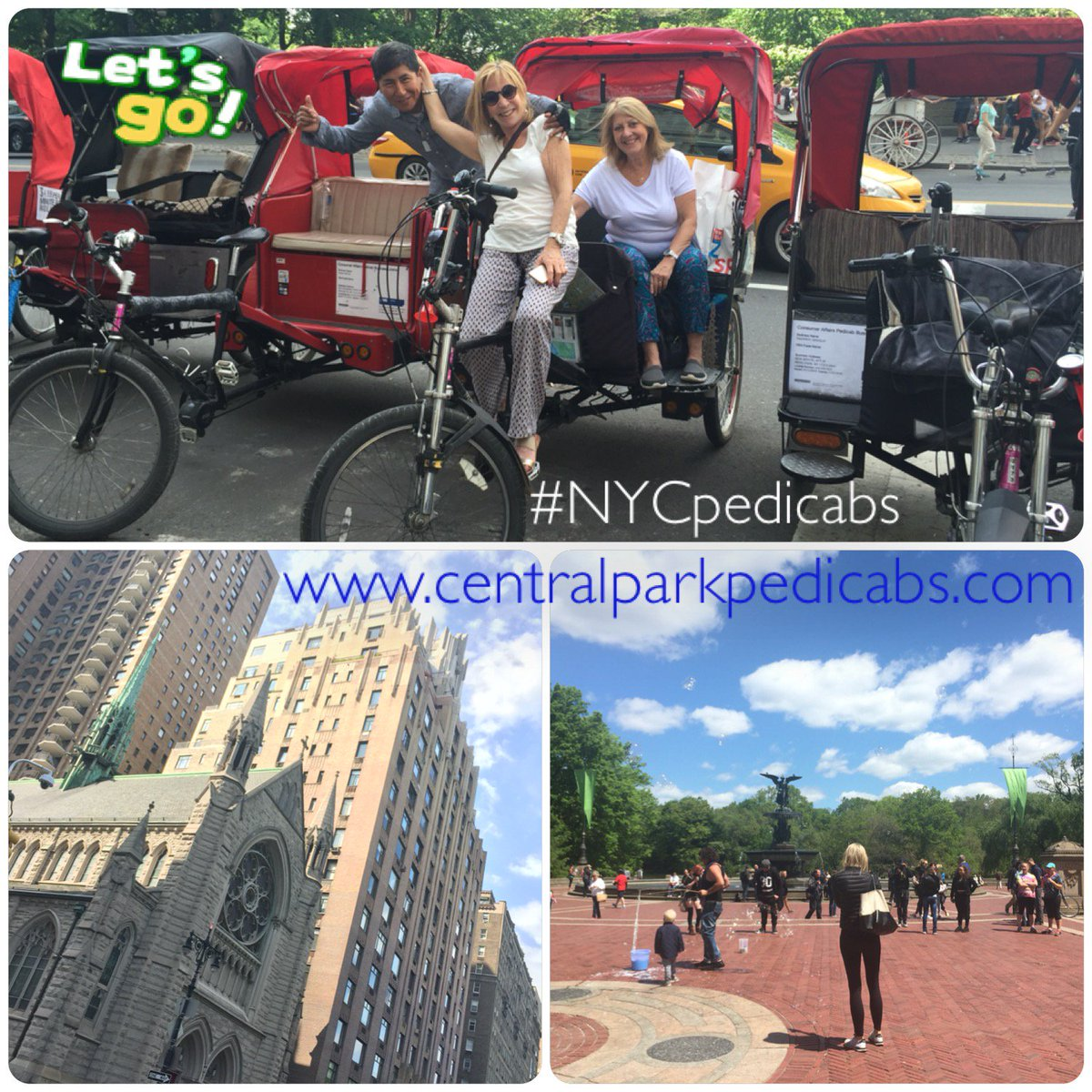 Central Park Pedicab Rickshaw Tours https://t.co/IKxLJu5I1I #centralparkpedicabs #cent ...