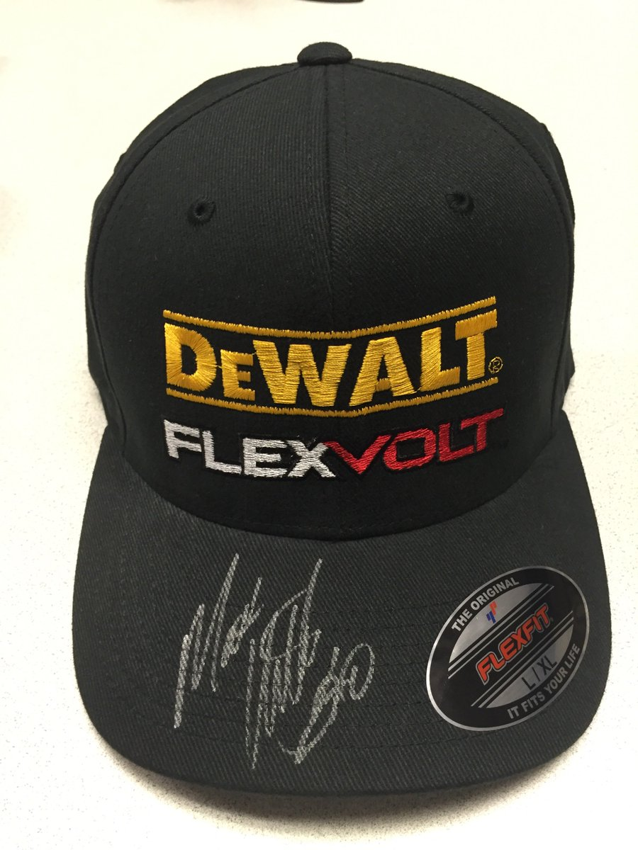 Hey @mattkenseth fans - The #DEWALTdeals giveaway is back! RT to win this autographed @mattkenseth #FLEXVOLT hat