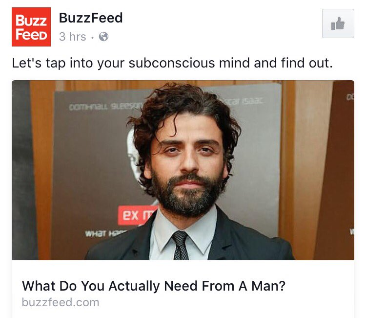 I think you figured it out, BuzzFeed. I don't even need to read the article. https://t.co/xSc5B8z6WE