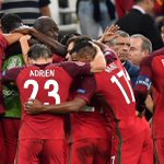 CONGRATULATIONS: #POR become the first team to advance to the #Euro2016 Semi-Finals. https://t.co/EsbZwjnGwz