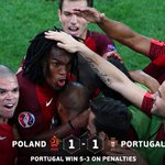 #EURO2016 - RESULT: #POR are THROUGH! It went all the way to penalties but Portugal held their nerve to advance. https://t.co/ibjqmnwzSi