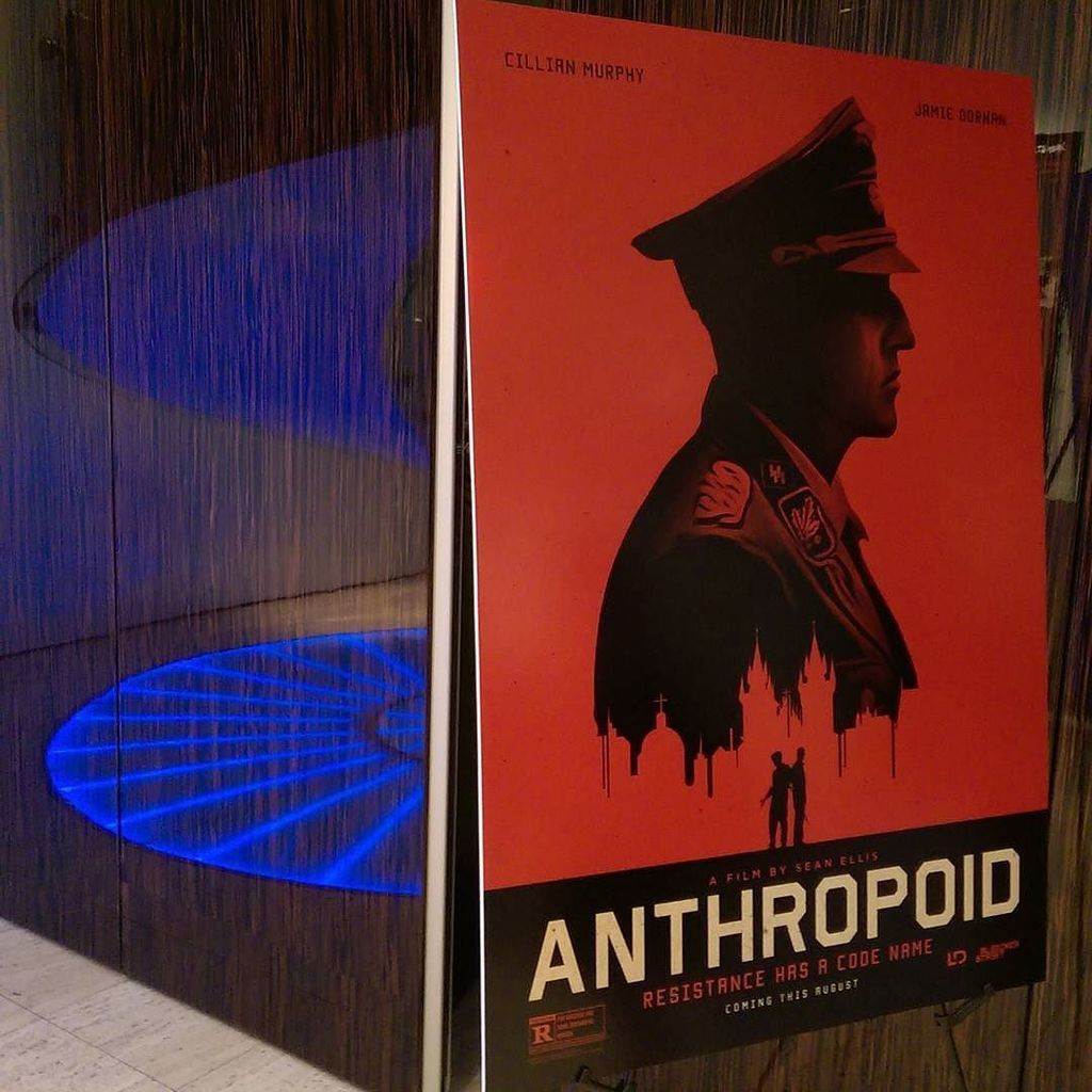 At a screening, but any reactions are embargoed until Aug. 5th... #Anthropoid https://t.co/WZrliF0NZy