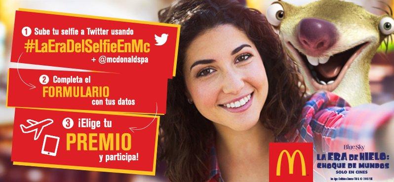 Toma una selfie en Mc y participa por un viaje para 4 a Malasia. Súbela con #LaEraDelSelfieEnMc + @McDonaldsPa https://t.co/E0W7USHwcQ