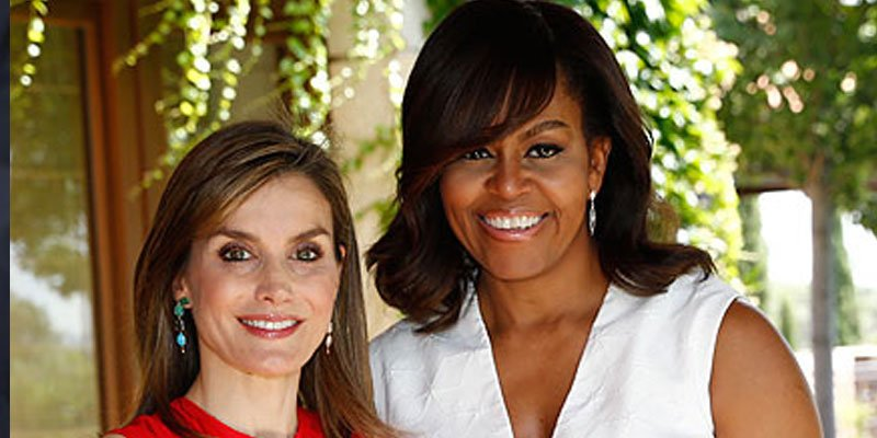 Michelle Obama reveals she and Queen Letizia bonded over raising 'strong, outspoken' girls