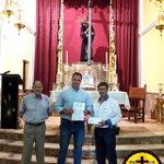 El pasado día 29, la Hermandad del Calvario hizo entrega a la Federación de Peñas de su aportación. @LiberosDecano https://t.co/iceCgg9rIq