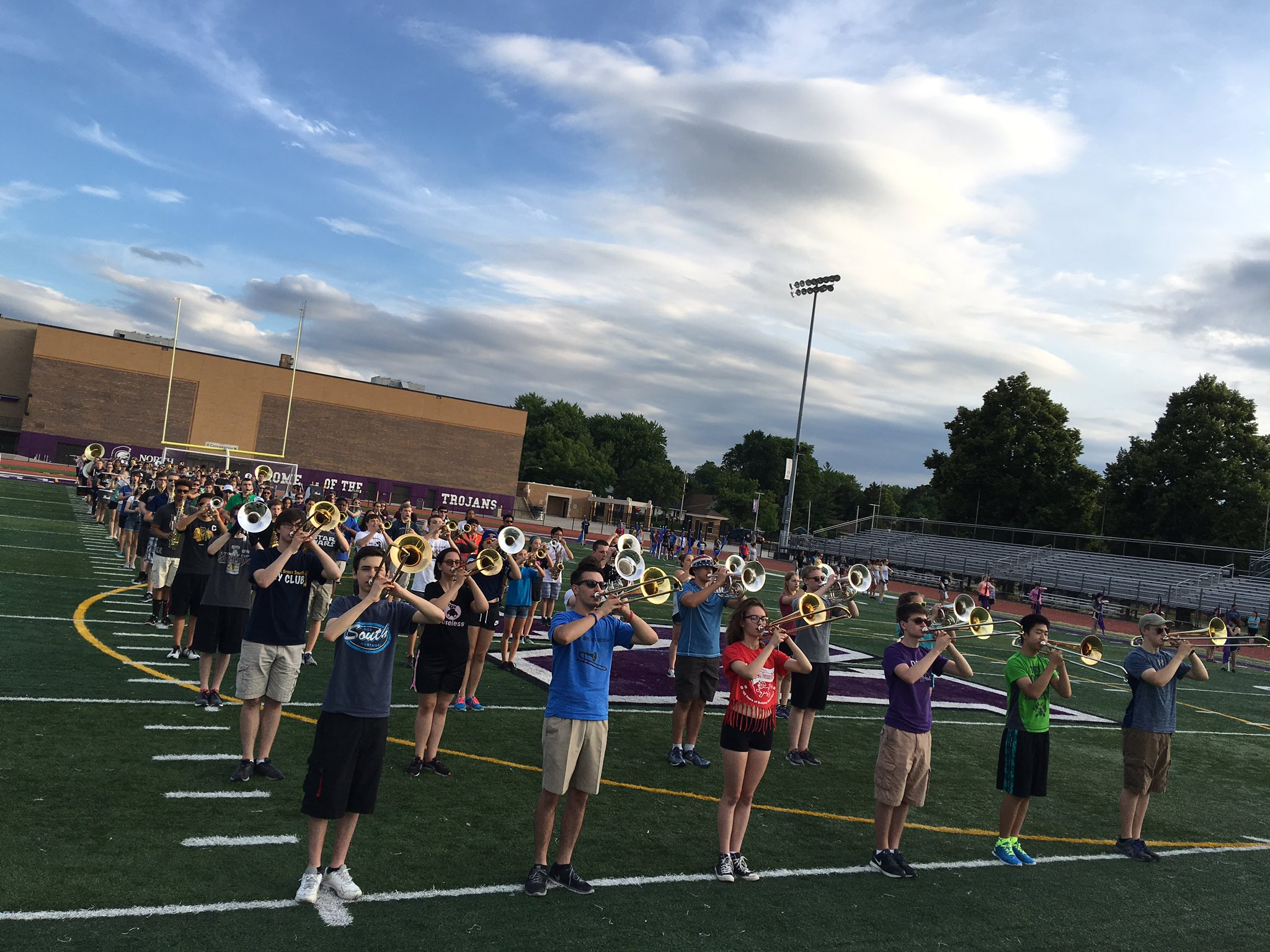 The @Dist_99 Band is looking great as they prepare for the @DownersGroveVlg July 4th Parade! #99Learns https://t.co/ZZSMHCLIL9