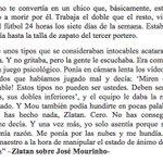 Zlatan sobre José Mourinho, cuando lo entrenaba en el Inter de Milán... https://t.co/xGOyGmP52a