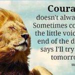 Courage .. https://t.co/zpv0bwlGeq