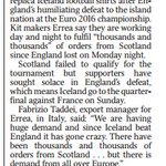 And finally: Iceland shirt manufacturer puts on extra night shifts to cope with demand... from Scotland https://t.co/cZHpM3e2GU