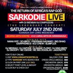 Tomorrow 2/7 in Canada @sarkodie @Compozers @DJMENSAH1 and @e40music Its another history to be made https://t.co/g4MPVz9dRj