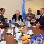 NOW: @AnastasiadesCY and @MustafaAkinci_1 meet at the UNs Good Offices under the auspices of DSASG Elizabeth Spehar https://t.co/aYkvxW3ccl