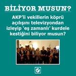 AKP'li vekillerin köprü açılışını televizyondan izleyip 'eş zamanlı' kurdele kestiğini biliyor musun? https://t.co/s1f6YbMsct