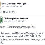 """Los 2 abonos que regalaba @Temucooficial para sus hinchas , el de tuiter y FB lo """"ganaron"""" 2 hinchas de la U https://t.co/3KLS6kP4tL"""