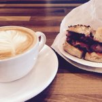 Bagels, Bacon and @SmallBatchCR #Brighton #Breakfast https://t.co/deSz07wem1