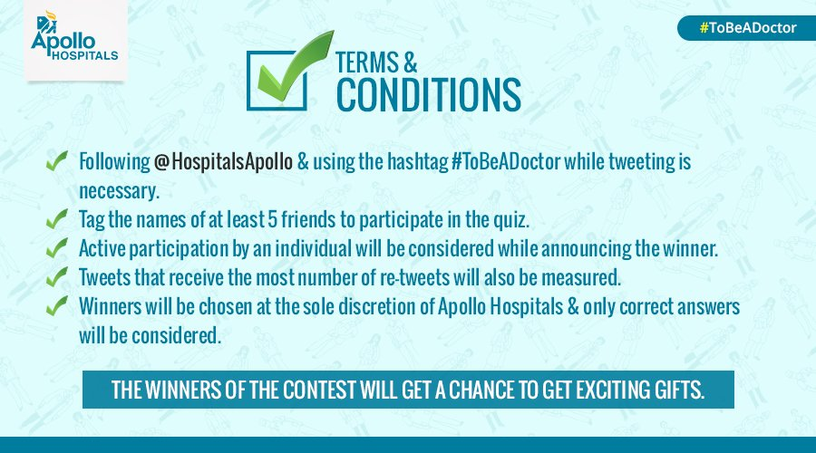 Here are the T&C for #ToBeADoctor #quiz. Following these are compulsory while participating in the #contest. https://t.co/xnVryIoB6P